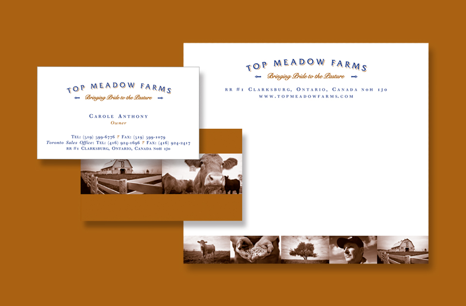 Business card mailing label